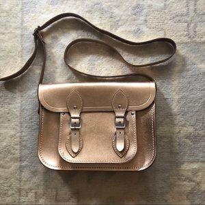 "Cambridge Satchel Company 11"" rose gold bag"